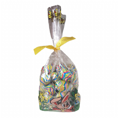 Luxury Mini Eggs - Milk Chocolate  Italian Easter Gift Bag (Milky Creme Cereals Filling)